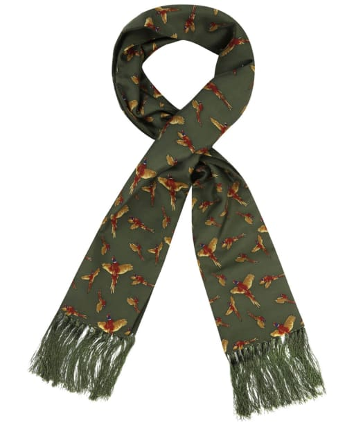 Soprano Flying Pheasants Silk Scarf - Green