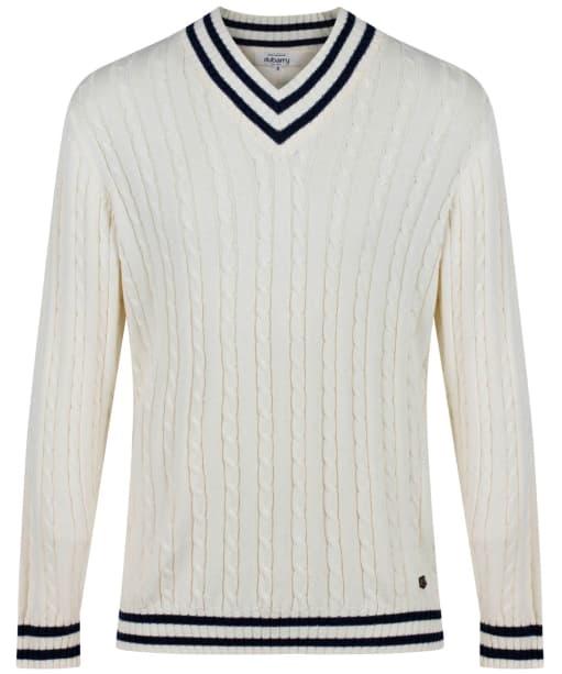 Men's Dubarry Rosbeg V-neck Sweater - Sail White