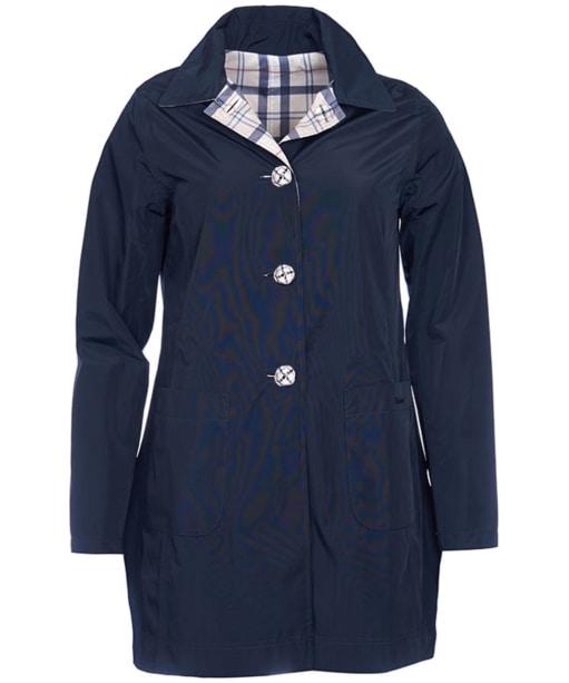 Women's Barbour Waterproof Reversible Derby Mac Jacket - Navy / Summer