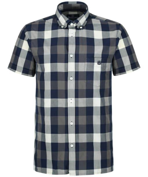 Men's Aquascutum Luke Indigo Shirt - Navy / Calico / Grey