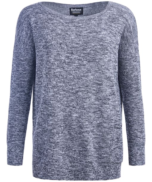 Women's Barbour International Suliven Knit Sweater - White | Black
