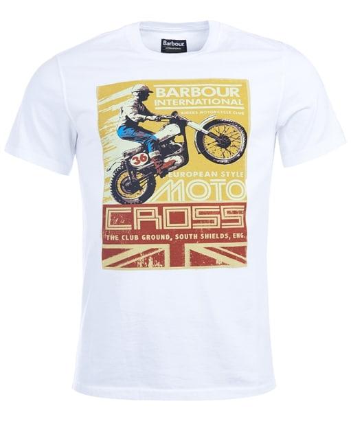 Men's Barbour International Motorcross Tee - White
