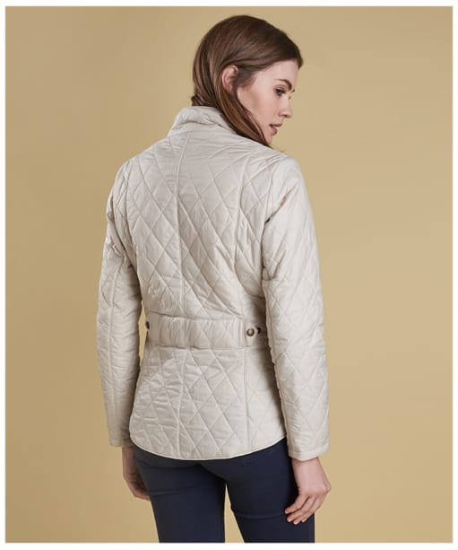 Women's Barbour Flyweight Cavalry Quilted Jacket - Pearl