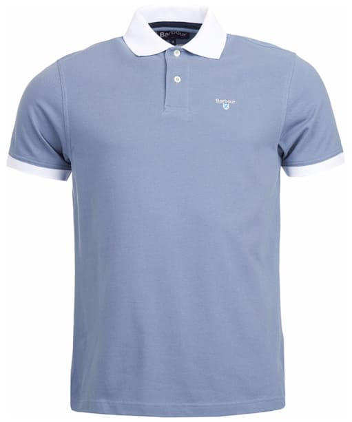 Men's Barbour Lynton Polo - Washed Blue