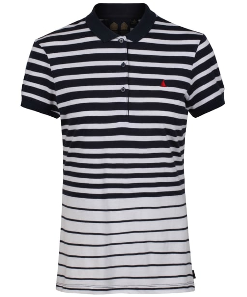 Women's Musto Ana Striped Polo Shirt - True Navy