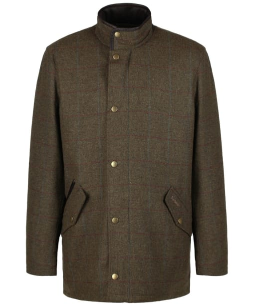 Men's Barbour Whimbrel Wool Jacket - Olive / Blue / Red