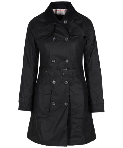 Women's Barbour Plean Waxed Jacket - Navy