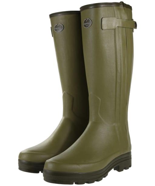 Men's Le Chameau Chasseur Neoprene Wellington Boots - Green