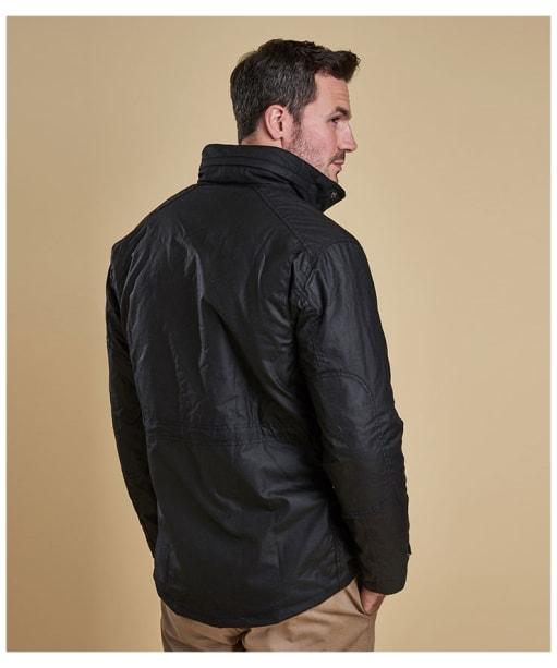 Men's Barbour Sapper Waxed Jacket - Black