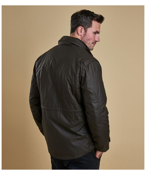 Men's Barbour Sapper Waxed Jacket - Olive