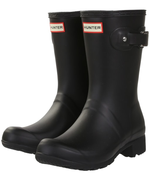 Women's Hunter Original Tour Short Wellington Boots - Black