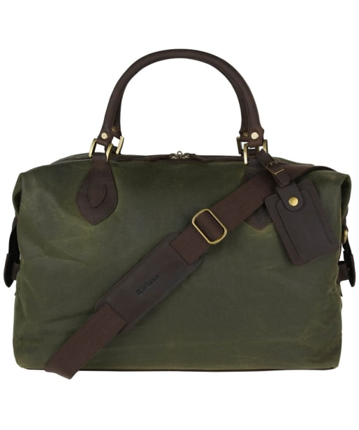 Barbour Archive Waxed Cotton Travel Explorer Bag - Antique Olive