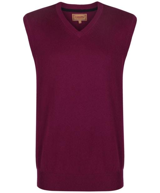 Men's Schoffel Cotton Cashmere Sleeveless V-Neck Sweater - Plum