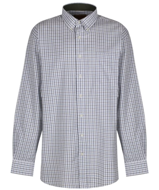 Men's Schoffel Banbury Shirt - Blue / Olive Check