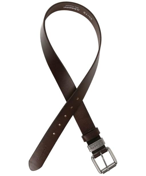 Men's Schoffel Leather Belt - Dark Brown