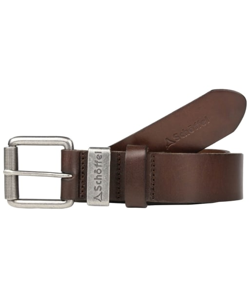 Men's Schoffel Leather Belt - Dark Brown