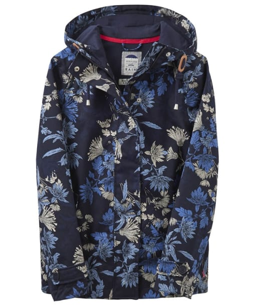 Women's Joules Coast Print Waterproof Coat - French Navy