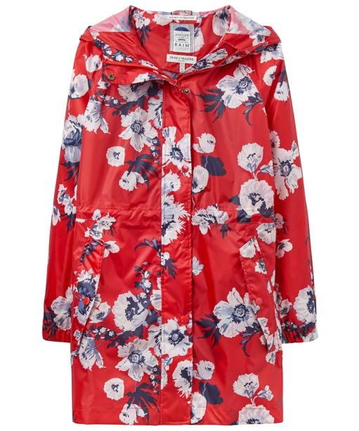 Women's Joules Golightly Waterproof Jacket - Red Posy