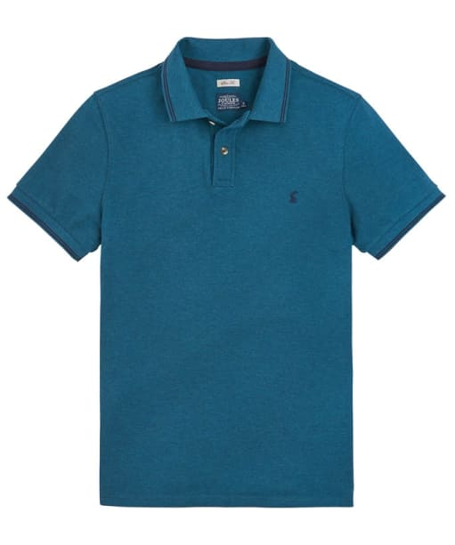 Men's Joules Kielder Slim Fit Polo Shirt - Teal Marl