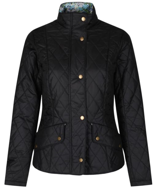 Women's Barbour Liberty Flyweight Cavalry Quilted Jacket - Black