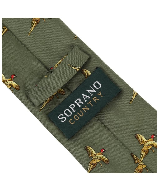 Men's Soprano Flying Pheasant Country Tie - Country Green
