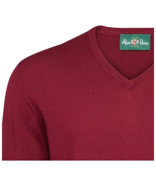 Men's Alan Paine Millbreck V-Neck Sweater - Bordeaux
