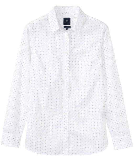 Women's Crew Clothing Hallsands Classic Poplin Shirt - White Linen Spot
