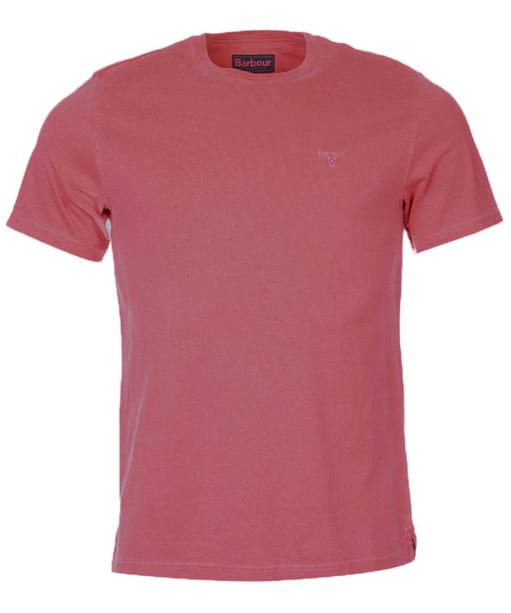 Men's Barbour Garment Dyed Tee - Biking Red