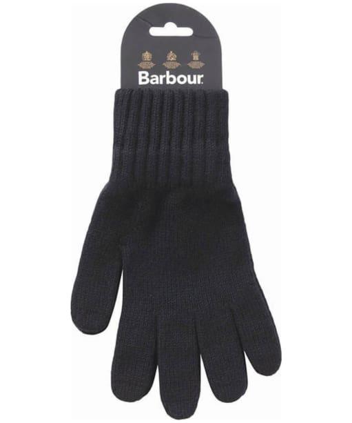 Men's Barbour Lambswool Gloves - Black
