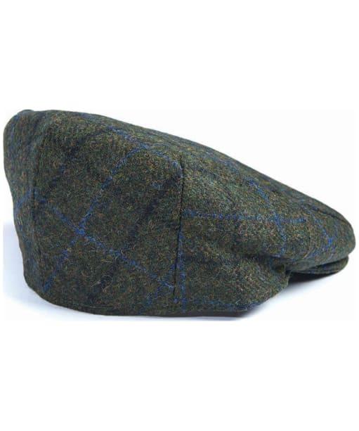 Men's Barbour Moons Tweed Cap - Green Fine Overcheck