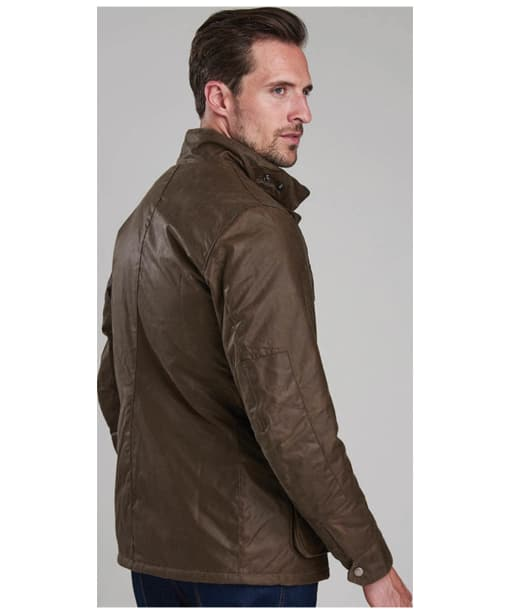 Men's Barbour International Duke Wax Jacket - Bark