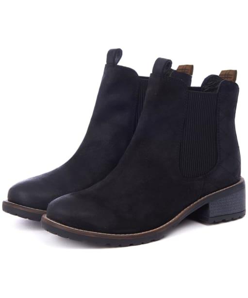 Women's Barbour Latimer Chelsea Boots - Black Waxy