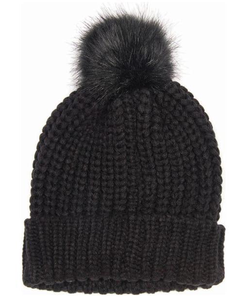 Women's Barbour Saltburn Bobble Hat - Black