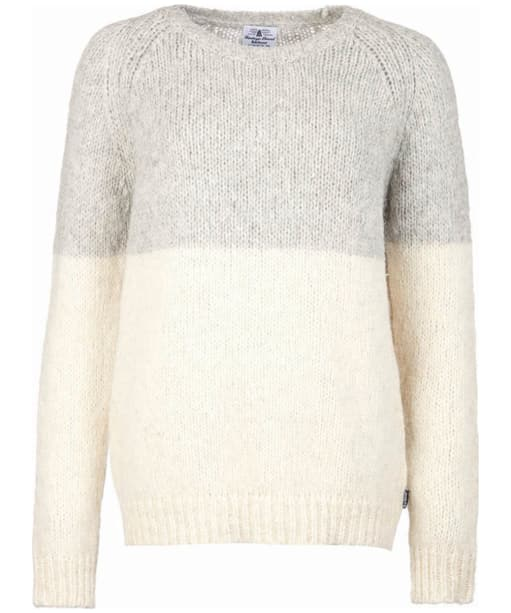 Women's Barbour Heritage Helen Crew Neck Sweater - Light Grey Marl