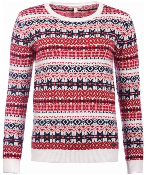 Women's Barbour Tarn Crew Sweater - Carmine