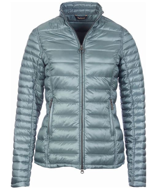 Women's Barbour Clyde Short Baffle Quilted Jacket - Eucalyptus