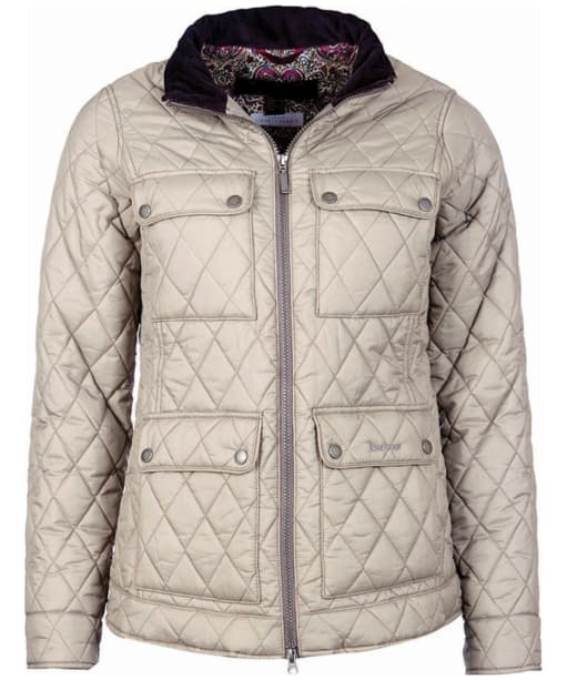 Women's Barbour Liberty Abbey Quilt Jacket - Taupe