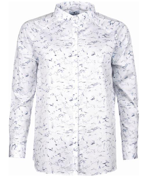 Women's Barbour Heritage Amanda Marble Print Shirt - White Print