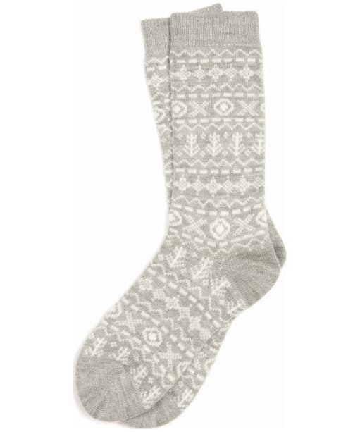 Women's Barbour Newton Fairisle Sock - Grey