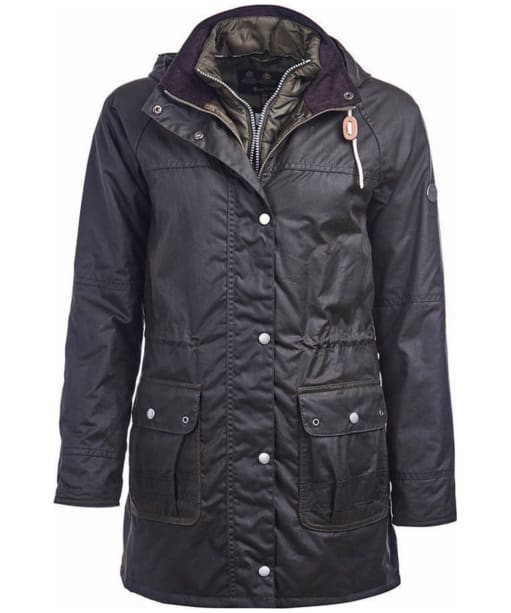 Women's Barbour Seaton Waxed Jacket - Olive