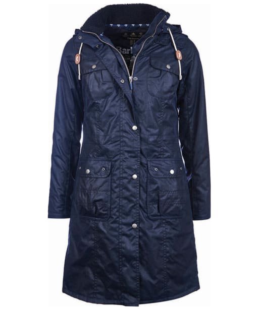 Women's Barbour Winterton Wax Jacket - Royal Navy