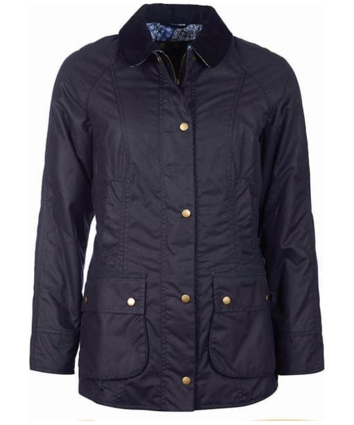 Women's Barbour Abbey Wax Jacket - Royal Navy