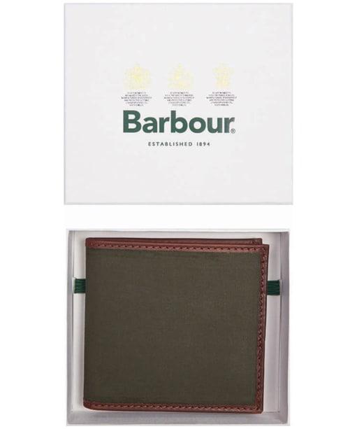 Men's Barbour Drywax Billfold - Olive