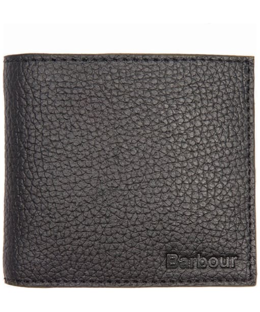 Men's Barbour Leather Billfold Wallet - Black