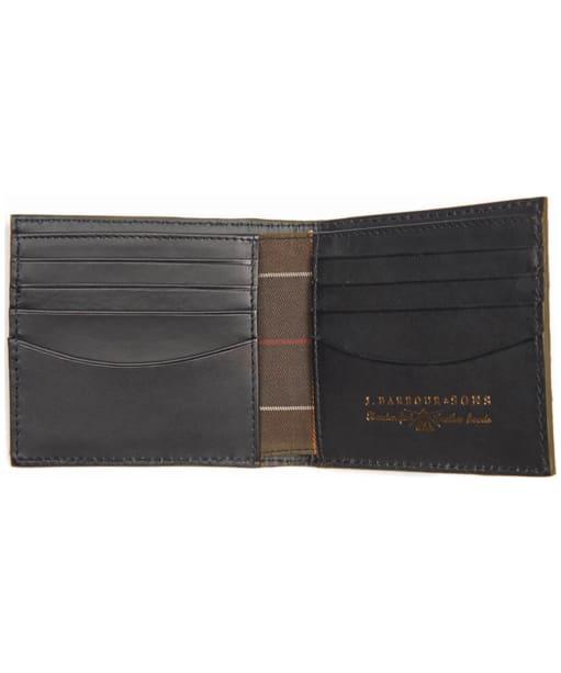 Men's Barbour Leather Billfold Wallet - Black