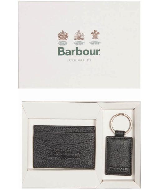 Men's Barbour  Card Holder & Keyfob - Black