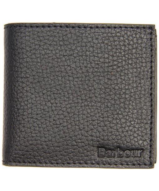 Men's Barbour Grain Leather Wallet - Black