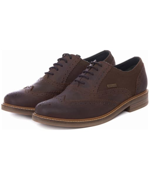 Men's Barbour Redcar Oxford Brogues - Chocolate