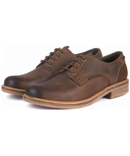 Men's Barbour Bramley Derby Shoes - Dark Brown Ranch
