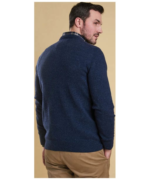 Men's Barbour Tisbury Crew Neck Sweater - Deep Blue